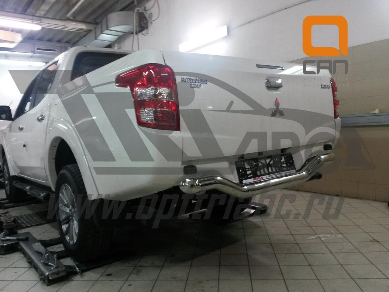 Защита заднего бампера Mitsubishi L200 (2016-) Fiat FullBack (одинарная волна) d70