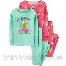 Піжама Carter's для дівчинки 1шт, 5 (108-114см) - Рожева