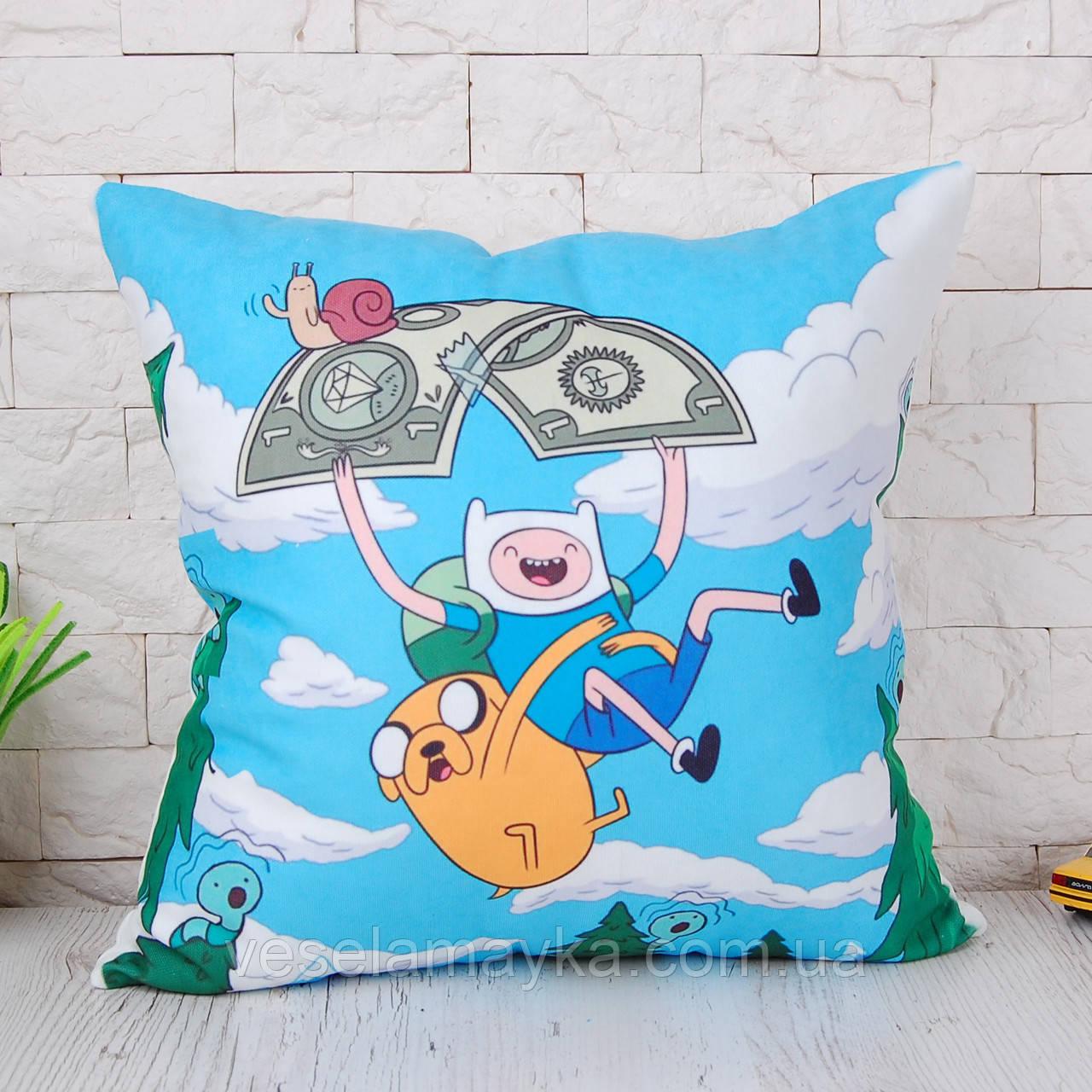 "Подушка ""Финн и Джейк"" (Adventure time)"