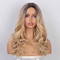 Красивый парик без чёлки волнистые волосы омбре WL1001
