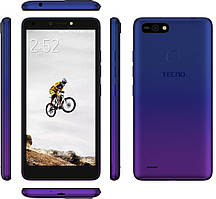 Смартфон синий с большим дисплеем на 2 сим карты Tecno POP2F (B1f) 1/16Gb DS Dawn Blue UA UCRF