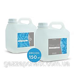 Средство для дезинфекции воды в бассейне и удаления водорослей Silver Life, 2*3 л  СВ39