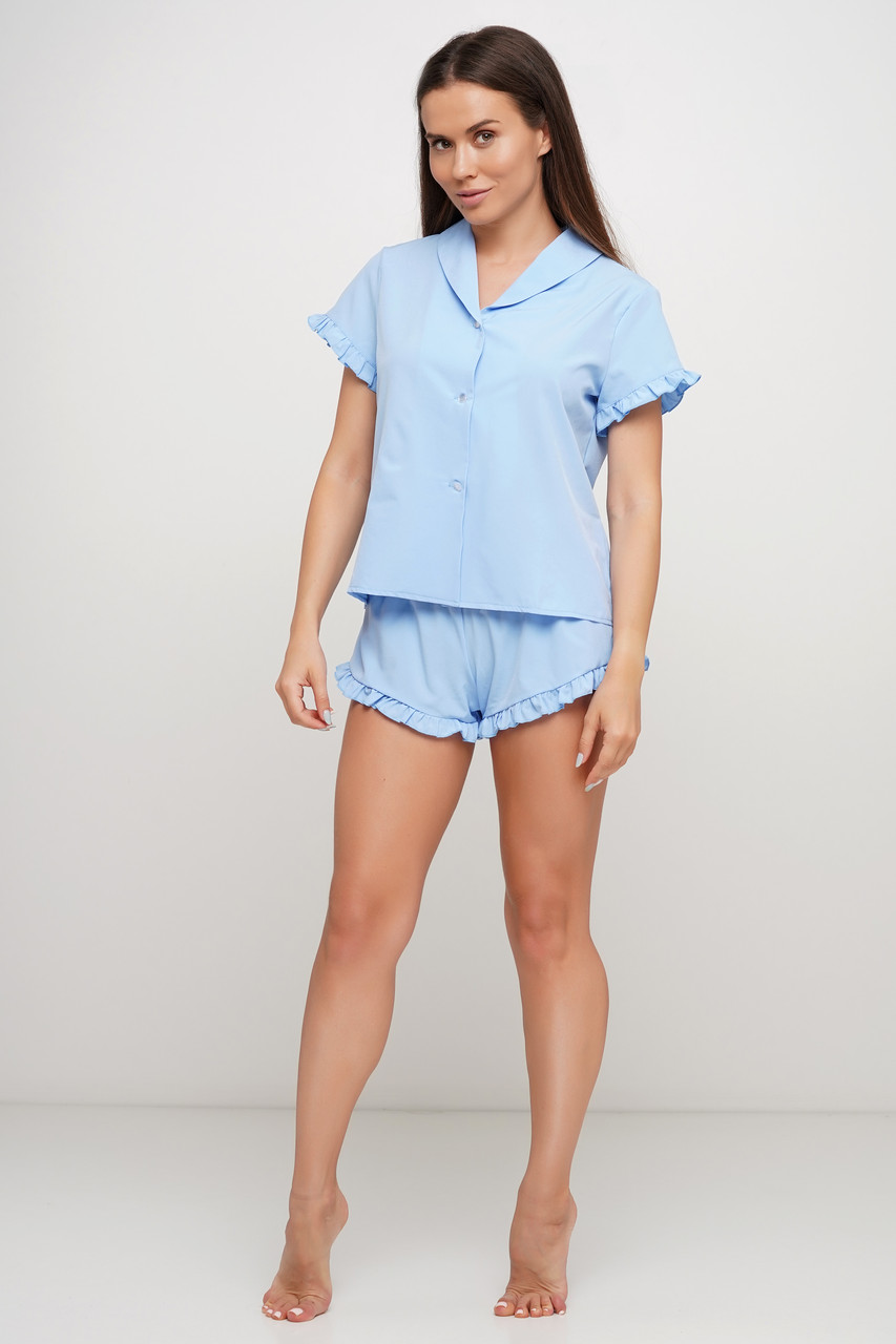 Пижама шорты рубашка