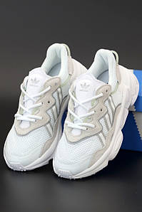 Мужские кроссовки Adidas Ozweego White (Адидас Озвиго)
