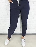 Котоновые брюки женские, брюки в горошек 44*48,,50,52,