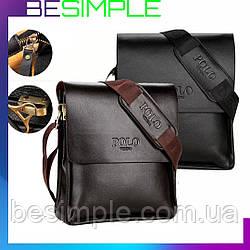 Мужская сумка Polo Videng / Кожаная сумка через плечо