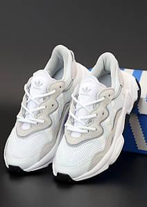 Женские кроссовки Adidas Ozweego White (Адидас Озвиго)