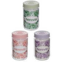 #204309 - Банка для хранения продуктов Herevin Helezon Mix, стекло, 600 мл, 14х9х9 см, 308 г (140367-500)