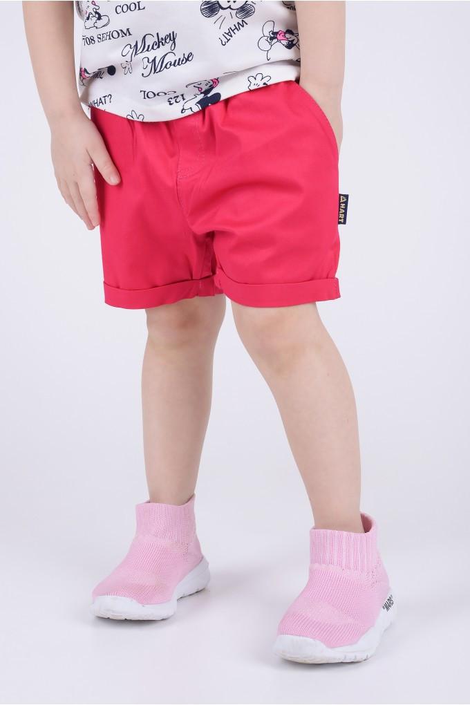 Качественные детские шорты ,цвет розовый (рост 92)