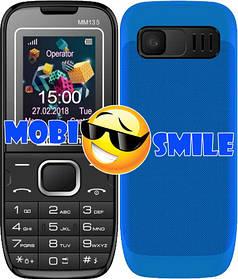 Телефон Maxcom MM135 Black-Blue Гарантія 12 місяців