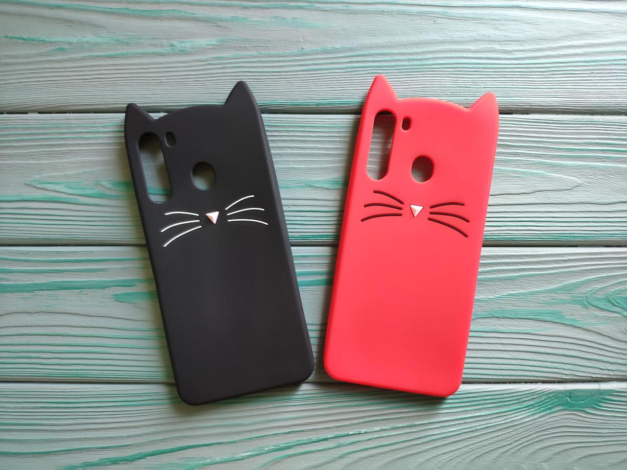 Чехол 3D Cat для Samsung Galaxy A21 2020  A215F Бампер Усики (2 цвета)
