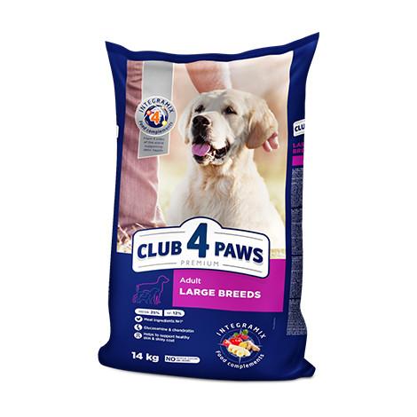 Клуб 4 Лапы Премиум корм для взрослых собак крупных пород, 14 кг