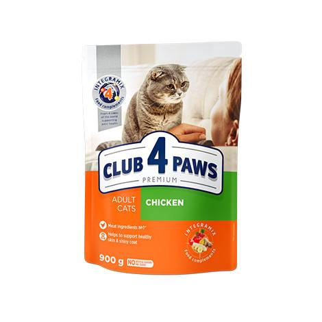 Клуб 4 Лапы Премиум корм для взрослых кошек с курицей, 14 кг