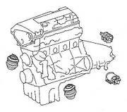 Подвеска двигателя и коробки передач Ford Escort 1986-1990