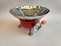 Газовая походная печь примус KOVAR K-203  с пьезоподжигом и защитой от ветра