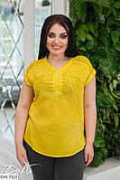 Блузка ткань коттон варенка+сеточка