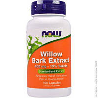 Экстракт коры ивы NOW_Willow Bark Extract 400 мг - 100 капсул
