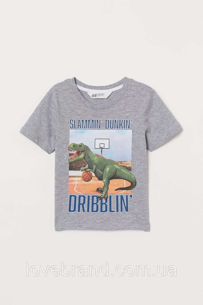 """Фирменная футболка для мальчика """"Дино"""" H&M"""