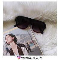 Сонцезахисні окуляри квадратні Celine репліка в чорно-червоній оправі