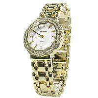 ✩Часы BAOSAILI BSL1029 Gold женские наручные с кварцевым механизмом золотые часы с камнями для девушек