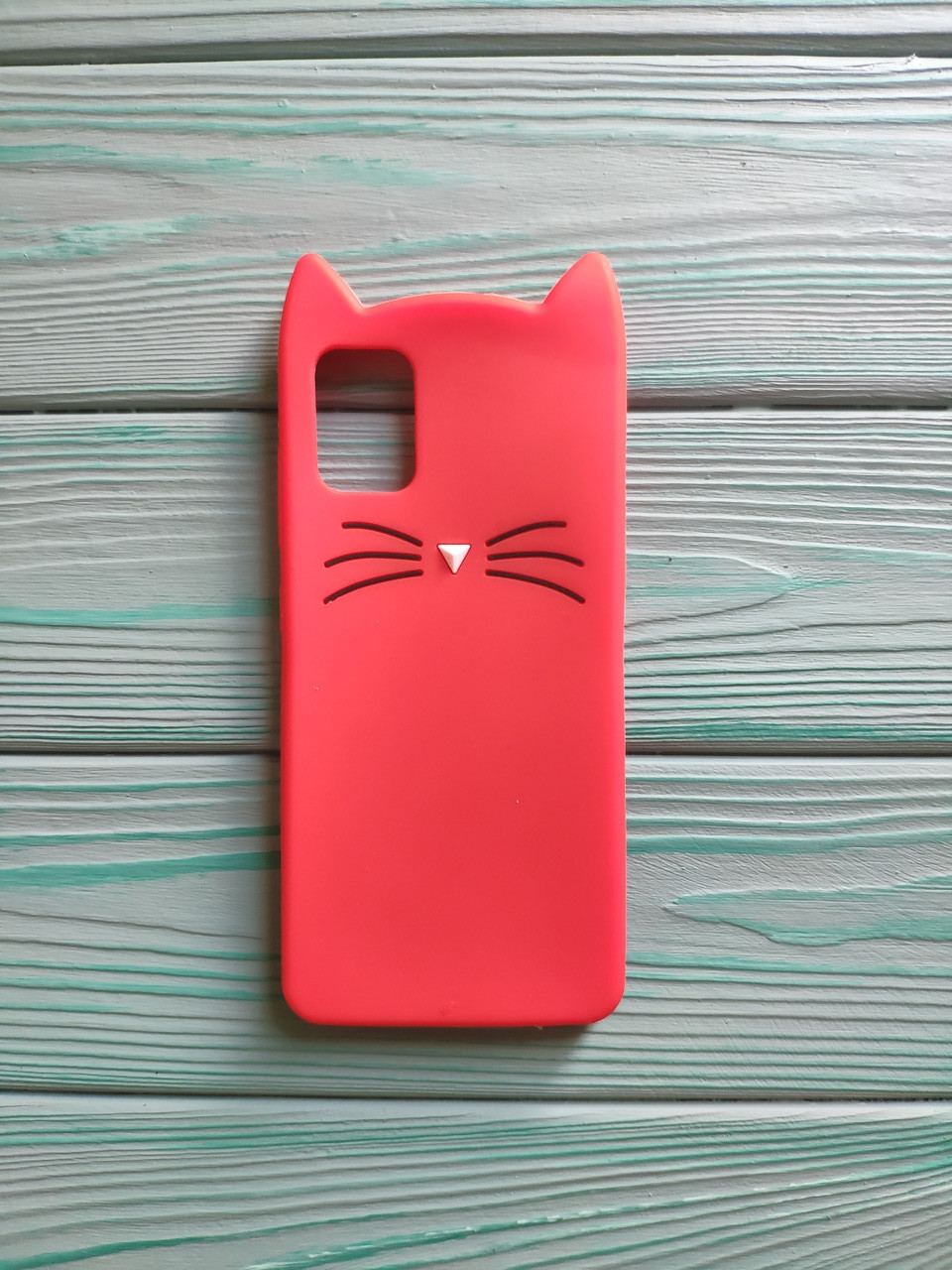 Чохол 3D Cat для Samsung Galaxy A51 2020 Бампер Вусики Червоний