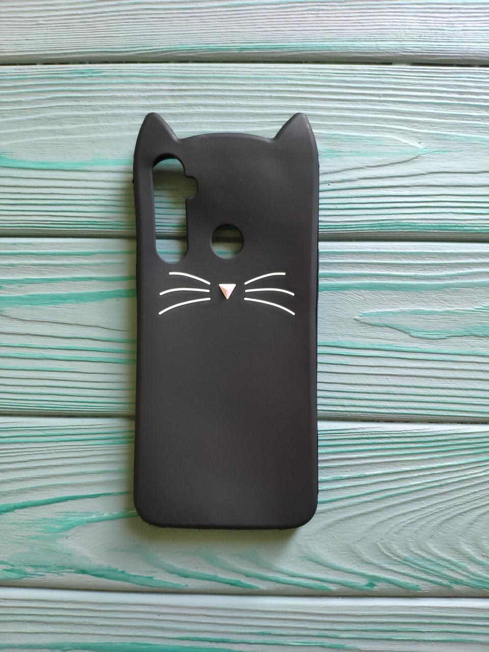 Чехол 3D Cat для Realme 5 Бампер Усики Черный