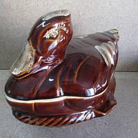 Утятница керамическая в форме утки