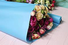 Калька для упаковки цветов в рулоне Голубая непрозрачная 0,7×10 м