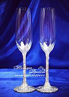 Свадебные бокалы со стразами Сваровски (уточняйте сроки, цена указана за 1 бокал) ФПН