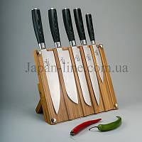 """Набор ножей из дамасской стали """"Micarta"""" Sakura SK-1505"""