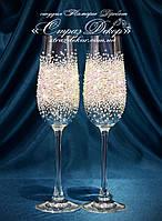 Свадебные бокалы со стразами Сваровски (уточняйте сроки) МПР-3, фото 1