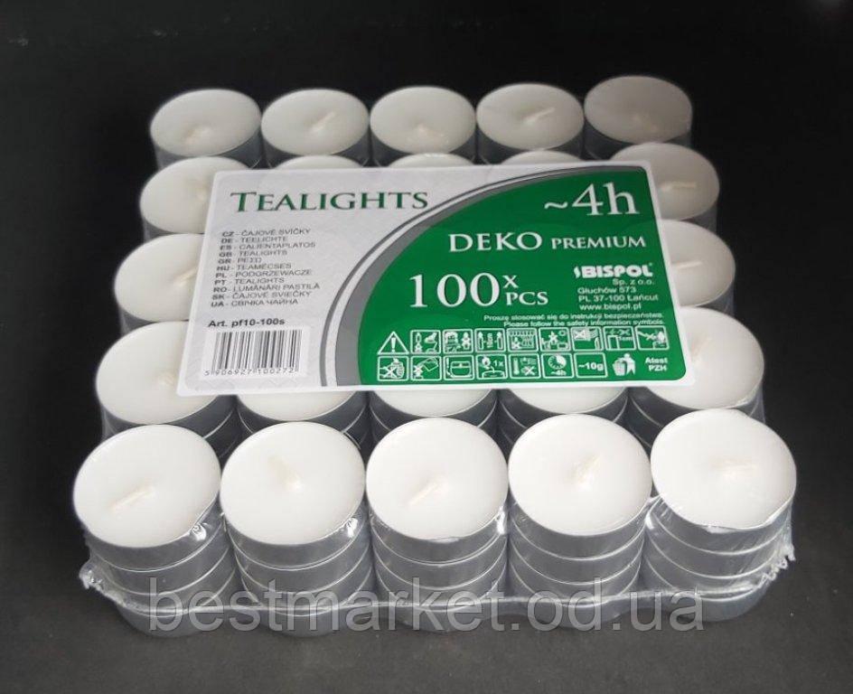 Набір Святкових Свічок Bispol Deko Premium ~ 4 години 100 шт