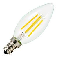 Филаментная лампа Horoz Electric 4W E14 2700K C37 (Свеча)