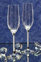 Свадебные бокалы с кристаллами Сваровски (перед заказом уточняйте наличие, цена указана за 1 бокал) СВАР-7