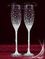 Свадебные бокалы со стразами (уточняйте сроки) КХ-5, фото 1