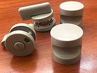 Комплект накладной дверной фурнитуры для сантехнических перегородок толщиной ЛДСП 16-20 мм