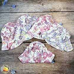 Детская лёгкая панамка для девочки (объём 52- 54 см) (3044)