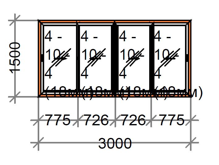 Раздвижное окно четырехстворчатое SWS, рама 80 мм