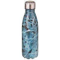 Термос бутылка питьевой A-PLUS 500 мл Мраморный принт нержавеющая сталь (термос пляшка із нержавіючої сталі), фото 1