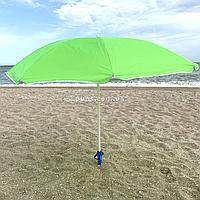 Зонт пляжный ромашка d=1.8 м, Stenson, Зеленый с ромашкой (MH-2685)