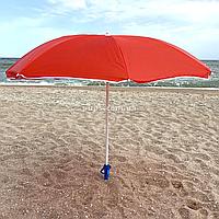 Зонт пляжный ромашка d=1.8 м, Stenson, Красный с ромашкой (MH-2685)