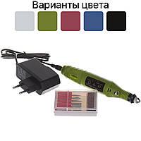Фрезер ручка для манікюру нігтів Mercedes 15000 об/хв 100-LYM 6 насадок Зелений