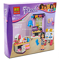 Конструктор «Friends» Bela - Творческая мастерская Эммы, 110 деталей (10553)