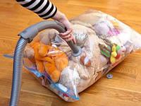 Вакуумный пакет с клапаном для упаковки и хранения одежды. Размер 60*80 (5 штук)