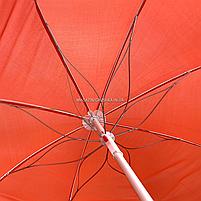 Зонт пляжный ромашка d=1.8 м, Stenson, Красный с ромашкой (MH-2685), фото 2