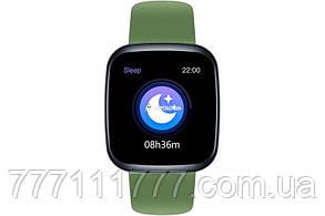Смарт часы с пульсометром, измерением давления и шагомером на андроиде Zeblaze Crystal 3 green