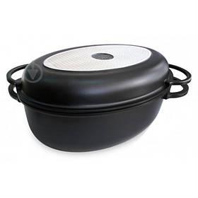 Гусятница с крышкой-сковородой 8,6 л Black Pro New 55874 Lessner