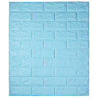 Самоклеющаяся декоративная 3D панель под кирпич / Цвет Голубой 700*770*7мм, фото 1