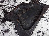 Поднос для почачи еды темного цвета (обожженная доска), фото 1
