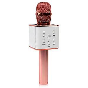 Беспроводной микрофон караоке bluetooth Q7 MS розовое золото 149885